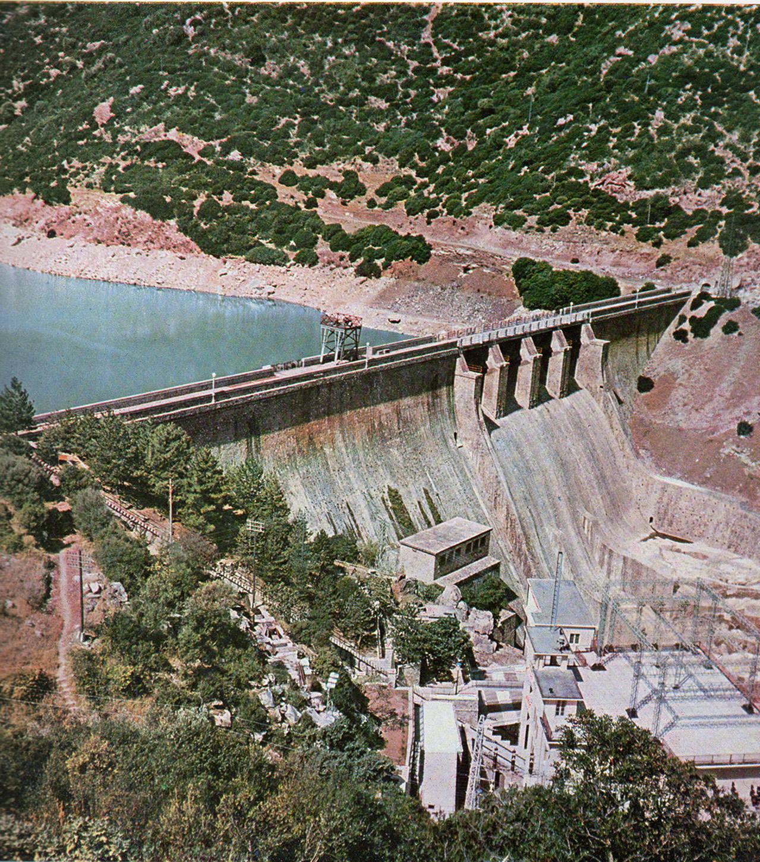 Impianti idraulici della S.E.S.Diga-del-Coghinas-1961